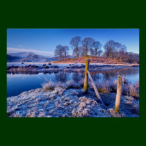 River Brathay frosty morning poster