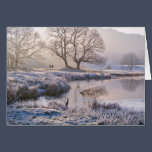River Brathay frosty morning, The Lake District Card