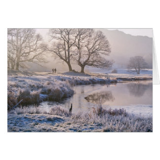River Brathay frosty morning, The Lake District Greeting Card