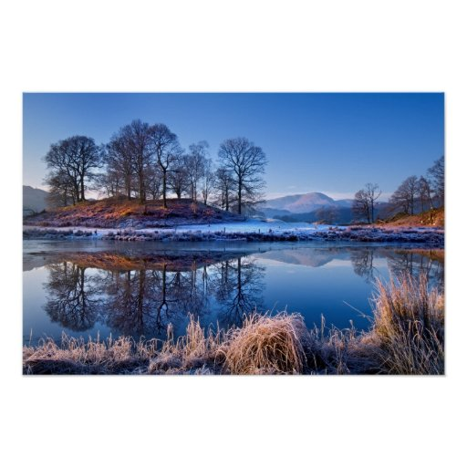 River Brathay reflections poster