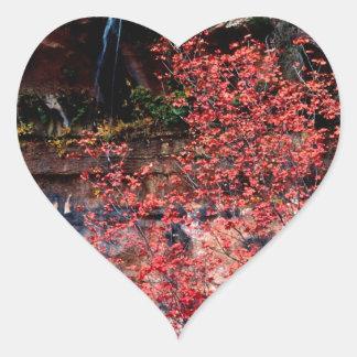 River Calico Emerald Pools Heart Sticker