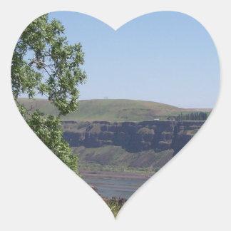 River Canyon Heart Sticker