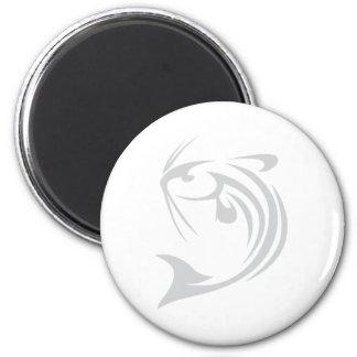 River Catfish 6 Cm Round Magnet