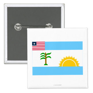 River Cess County Flag Pinback Buttons
