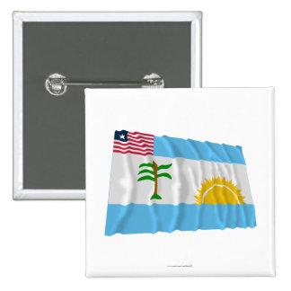 River Cess County Waving Flag 15 Cm Square Badge