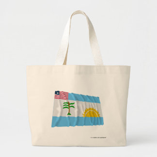 River Cess County Waving Flag Canvas Bags