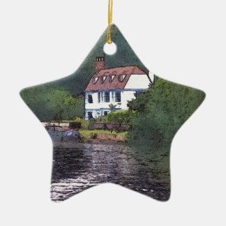 River Cottage Christmas Ornament