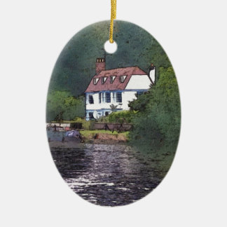 River Cottage Christmas Ornament