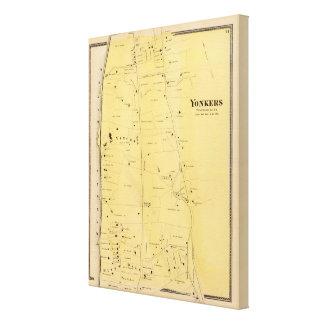 River Dale and Mt St Vincent Atlas Map Canvas Print