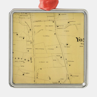 River Dale and Mt St Vincent Atlas Map Christmas Ornament