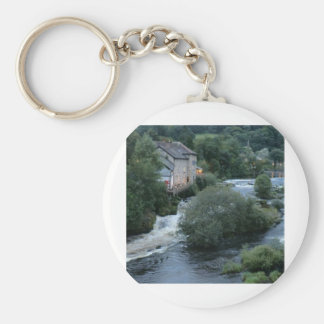 River Dee at Llangollen, Wales Keychains