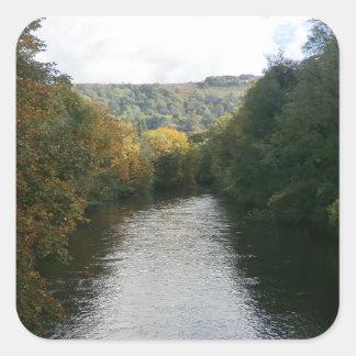 River Derwent at Matlock Bath Square Sticker