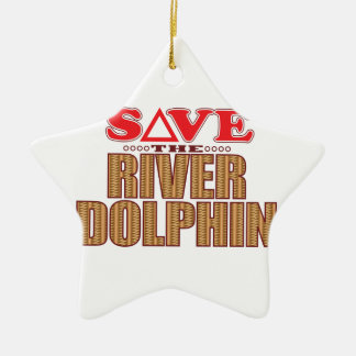 River Dolphin Save Christmas Ornament