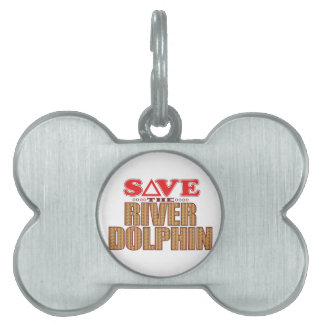 River Dolphin Save Pet Name Tag