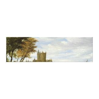 River Estuary with a castle Canvas Print