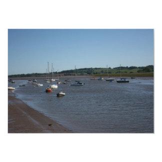River Exe, Topsham, Devon, UK 13 Cm X 18 Cm Invitation Card