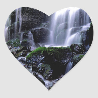 River Fairy Falls Columbia Gorge Oregon Heart Sticker