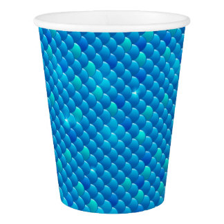 river fish scales paper cup