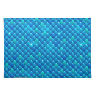 river fish scales placemats