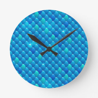 river fish scales round clock