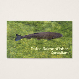 River fish swimming business card