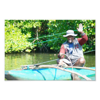River Fisherman Photo Print