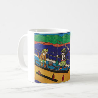 River Fishing Cats Coffee Mug
