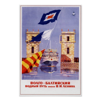 River Fleet USSR Soviet Union 1965 Poster