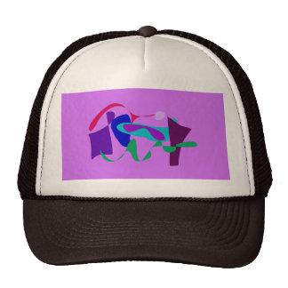 River Floral Lavender Trucker Hats