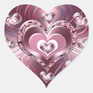 River Flowing Hearts Heart Sticker