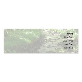 River flowing through woodland. pack of skinny business cards