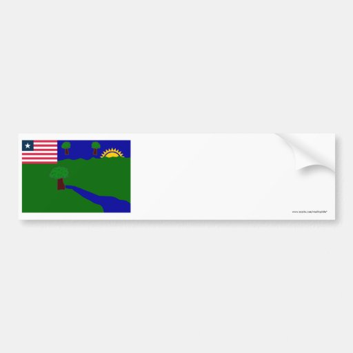 River Gee County Flag Bumper Stickers