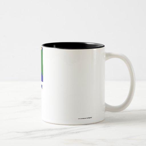 River Gee County Flag with Name Coffee Mug