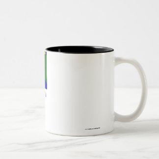 River Gee County Flag with Name Two-Tone Coffee Mug