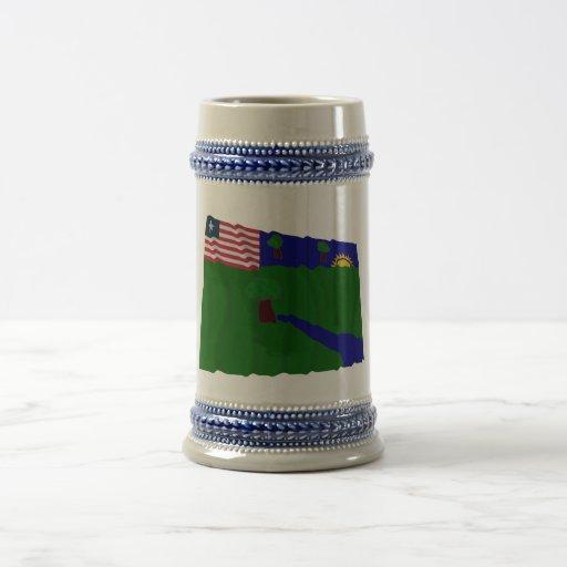 River Gee County Waving Flag Coffee Mug