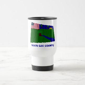 River Gee County Waving Flag with Name Travel Mug