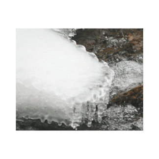 River Icicles Canvas Print