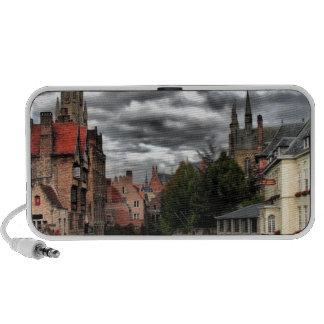 River in Bruges City, Belguim Portable Speaker