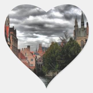River in Bruges City, Belguim Sticker