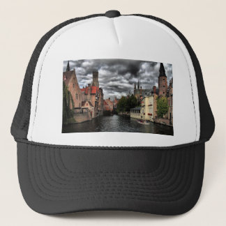 River in Bruges City, Belguim Trucker Hat