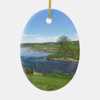 River in England Ceramic Oval Decoration