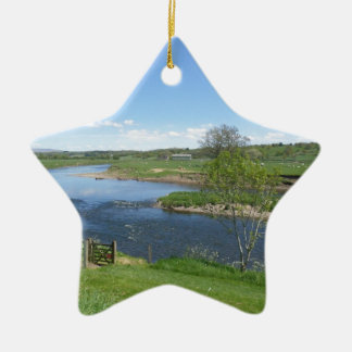 River in England Christmas Ornament