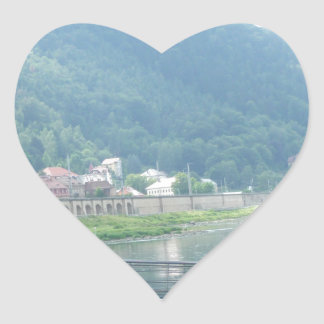 river in germany heart sticker