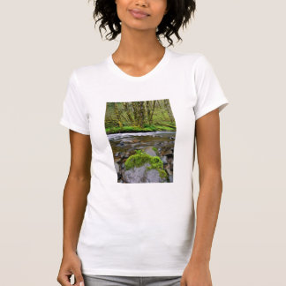 River in green forest, Oregon T-Shirt