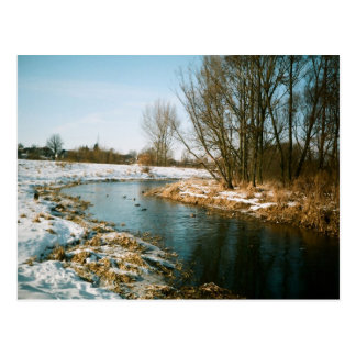 River In Lublin, Poland Post Card
