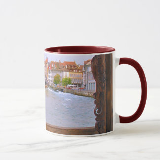 River in Lucerne, from the wooden bridge Mug