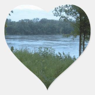 River in Missouri Heart Stickers