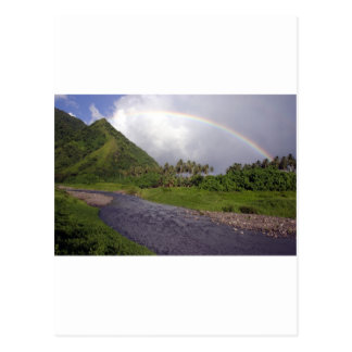 River in Teahupoo Tahiti Post Card