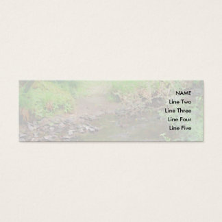 River in woodland. mini business card