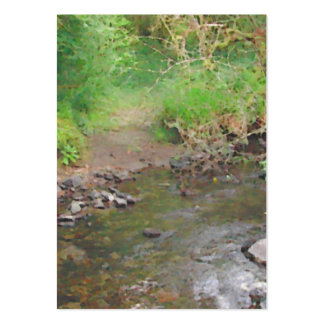 River in woodland. pack of chubby business cards
